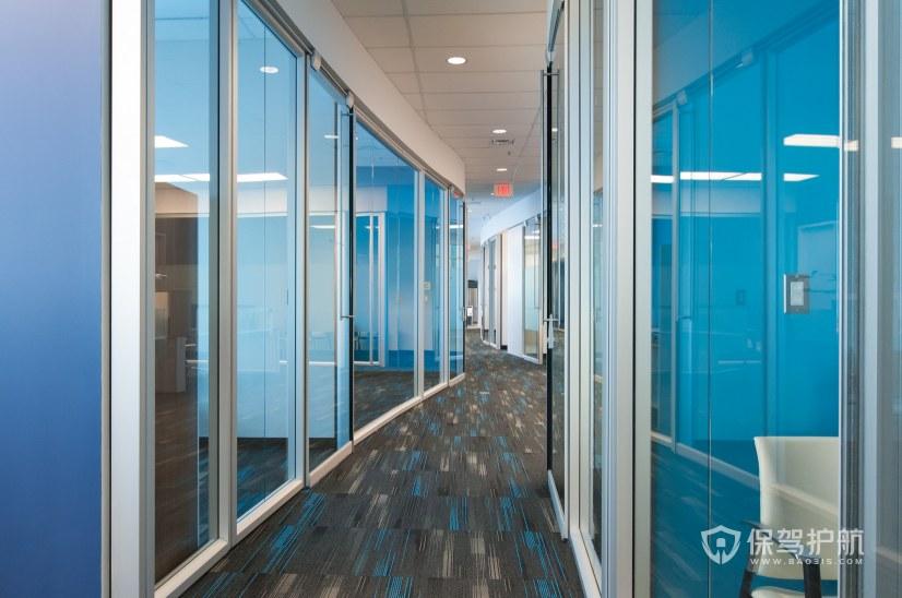 现代简约风办公室隔断走廊装修效果图