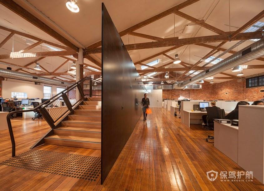 欧美风开放式办公室办公区装修效果图