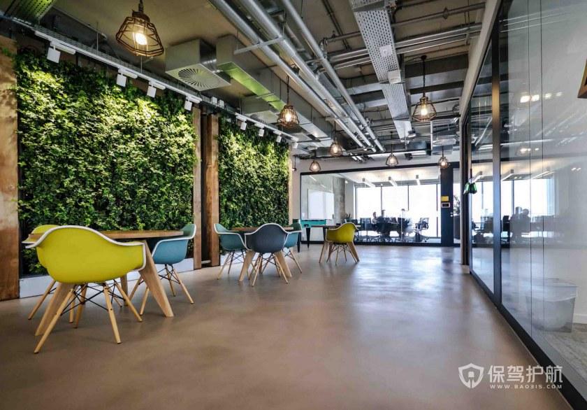 现代风格办公室接待区装修效果图