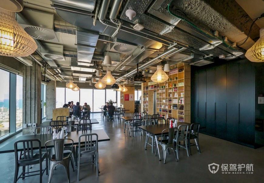 创意工业风办公室就餐区装修效果图
