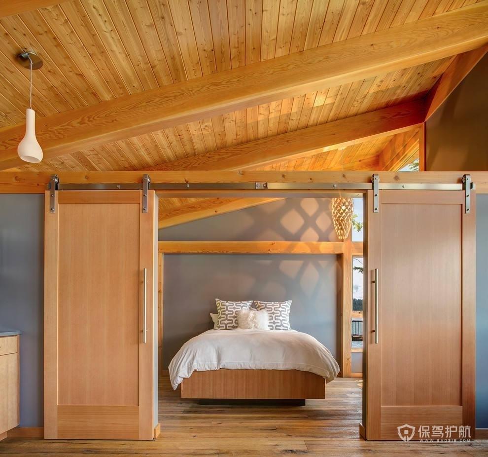 卧室推拉木门装修效果图-保驾护航装修网