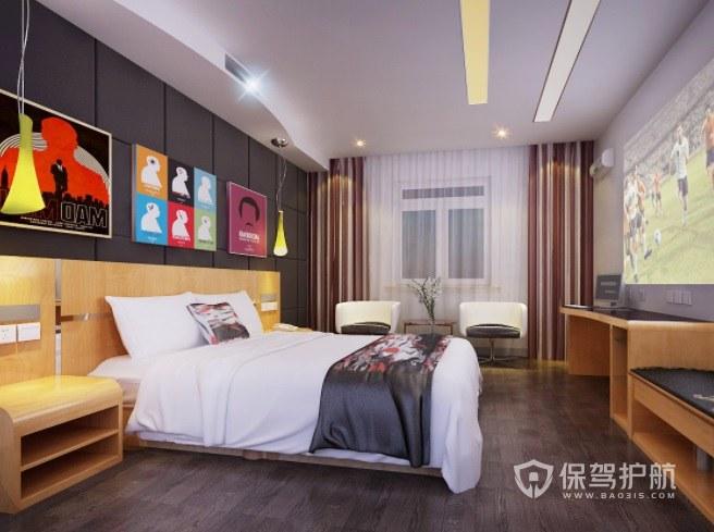 日式时尚酒店房间装修效果图