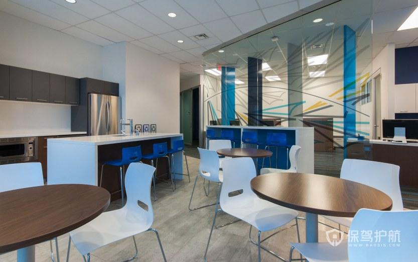 现代简约风办公室就餐区装修效果图