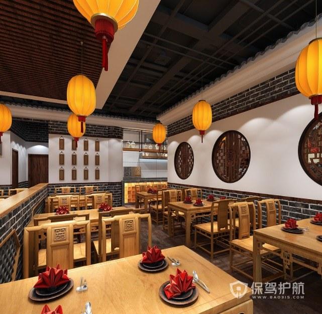 中式仿古风餐厅装修效果图