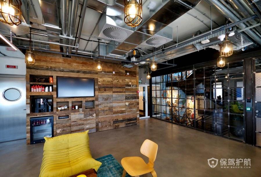 创意工业风办公室休息区装修效果图