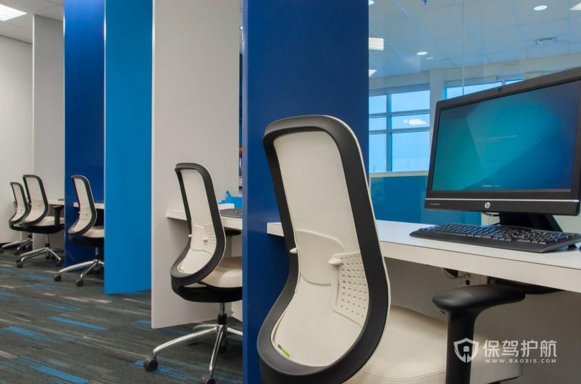 现代简约风办公室工位装修效果图
