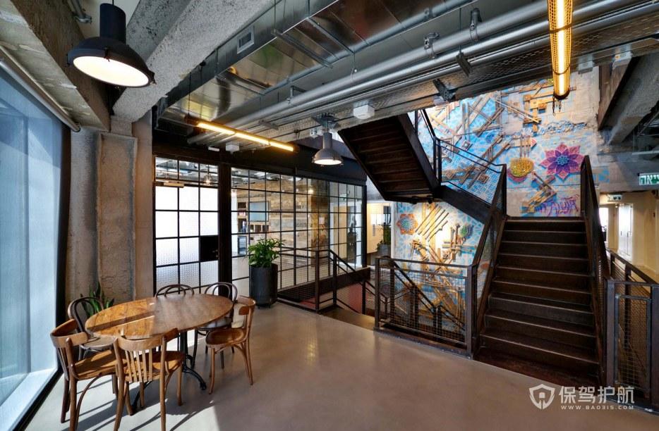 创意工业风办公室门厅装修效果图