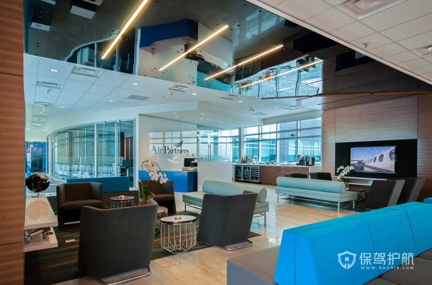 现代简约风办公室接待区装修效果图