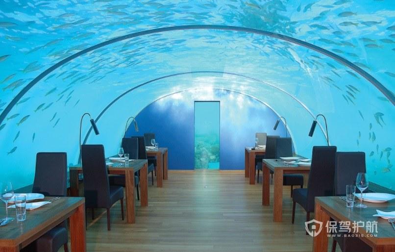 简约海底餐厅装修效果图