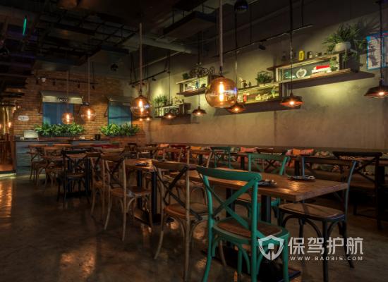 工业风格茶餐厅灯光设计效果图