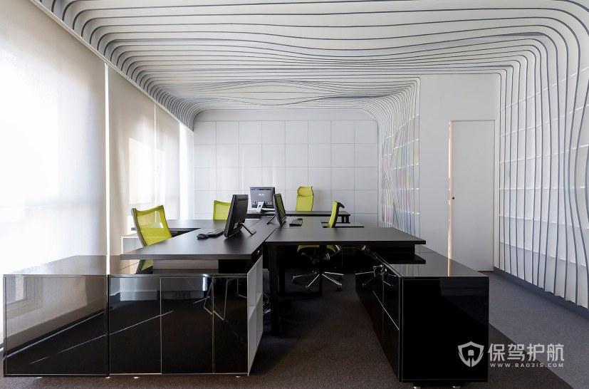 现代时尚风格办公室办公区装修效果图…