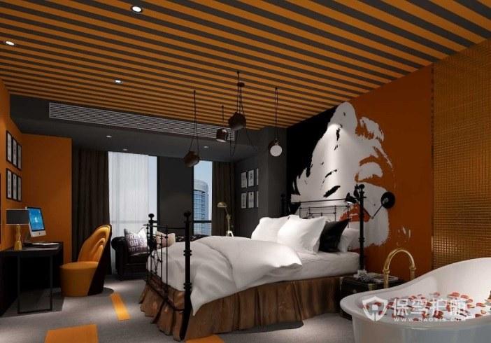 现代童趣创意酒店房间装修效果图