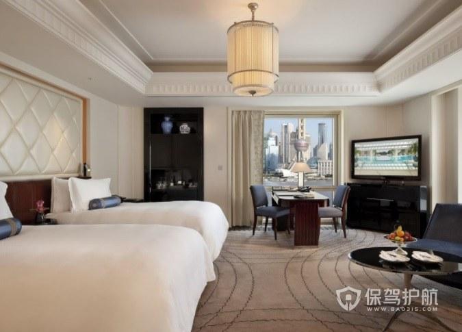法式温馨风酒店房间装修效果图