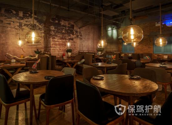 工业风格茶餐厅桌椅设计效果图
