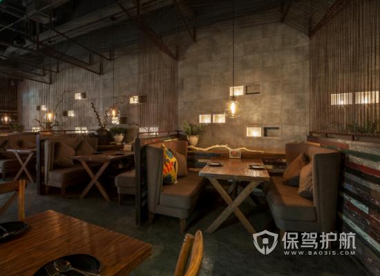 工业风格茶餐厅墙面装修效果图