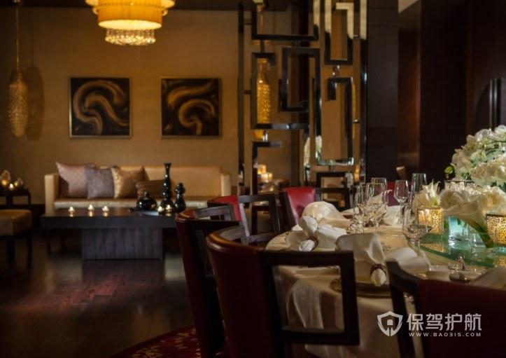 美式复古餐厅包厢装修效果图