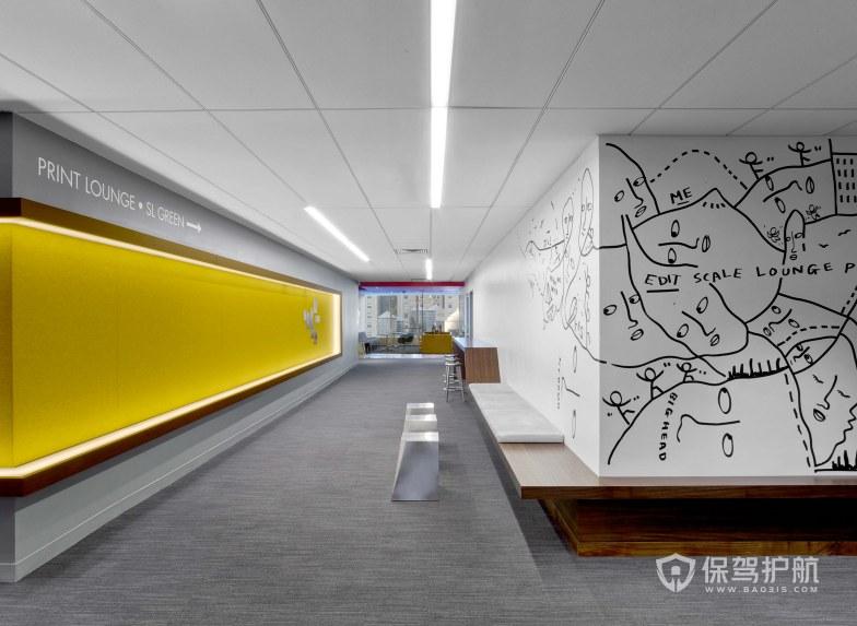 创意办公室走廊接待区装修效果图