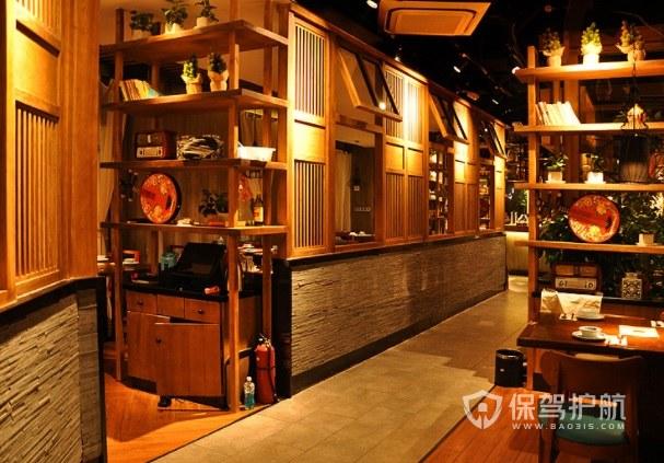 日式复古风主题餐厅装修效果图