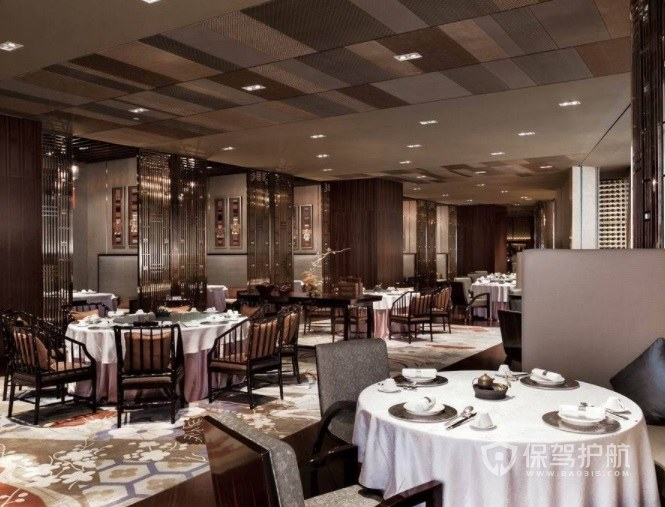 法式复古典雅餐厅装修效果图
