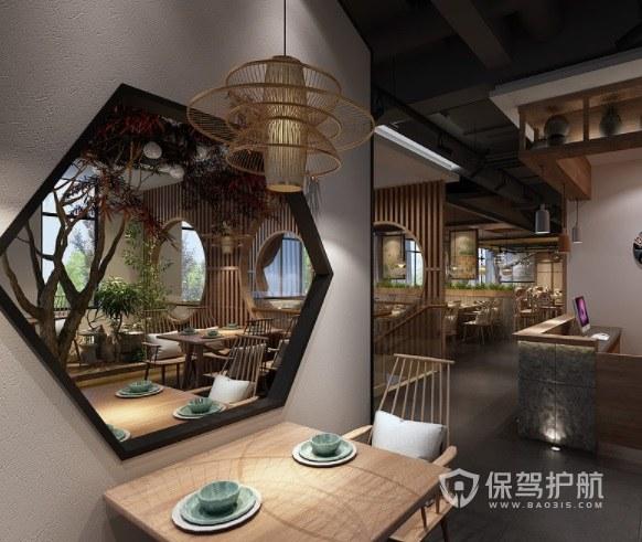 中式古典创意餐厅装修效果图