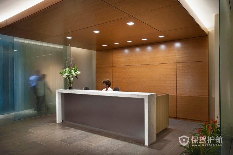 欧美时尚办公室前台装修效果图