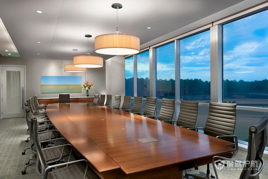 现代时尚办公会议室装修效果图