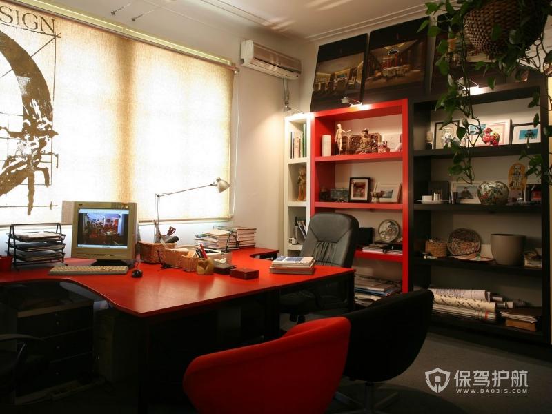 现代办公室工位装修效果图