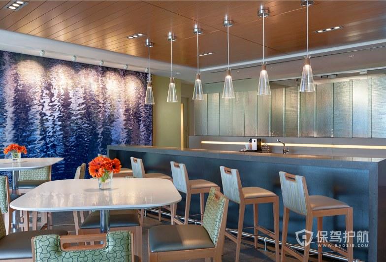 现代时尚办公室就餐区装修效果图
