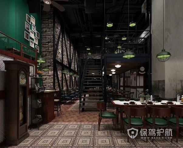 美式复古风餐厅装修效果图