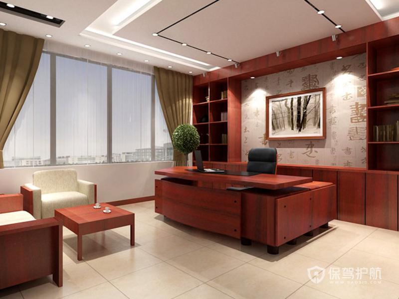 中式領導辦公室裝修效果圖