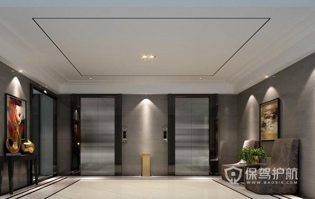 现代简约风酒店走廊装修效果图