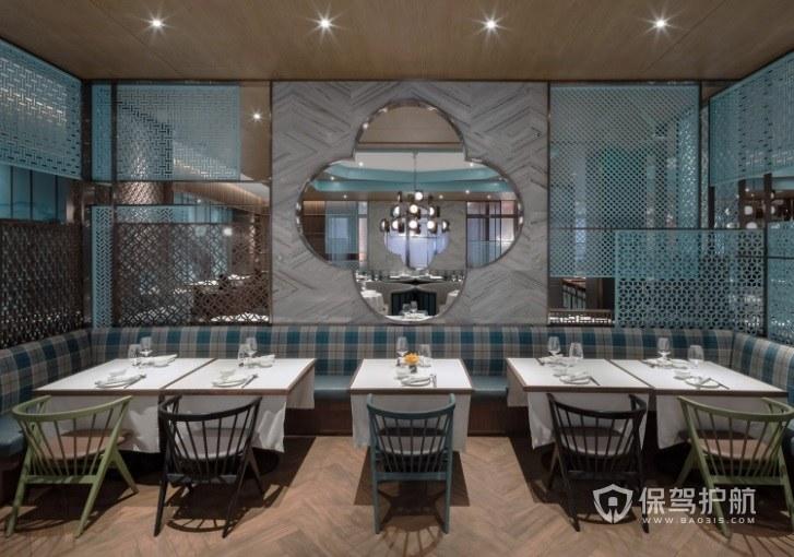 地中海简约风餐厅装修效果图
