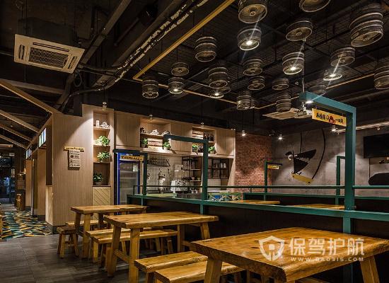 日式风格烧烤店吊顶装修效果图