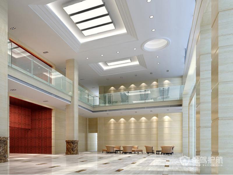欧式办公楼大厅装修效果图
