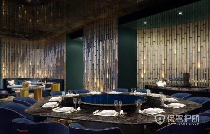 欧式复古豪华餐厅装修效果图