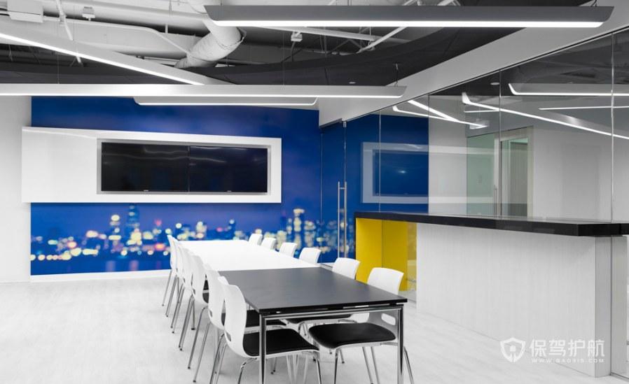 现代简约风办公会议室装修效果图