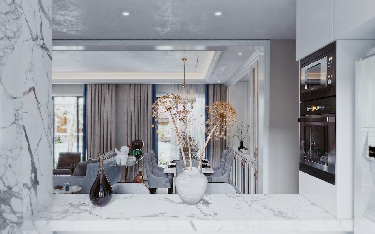 印象春城美式轻奢风格四居室装修效果图