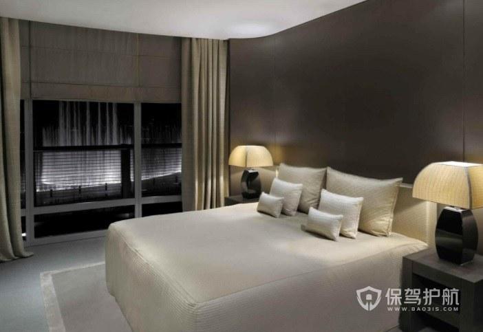 美式现代简约酒店房间装修效果图