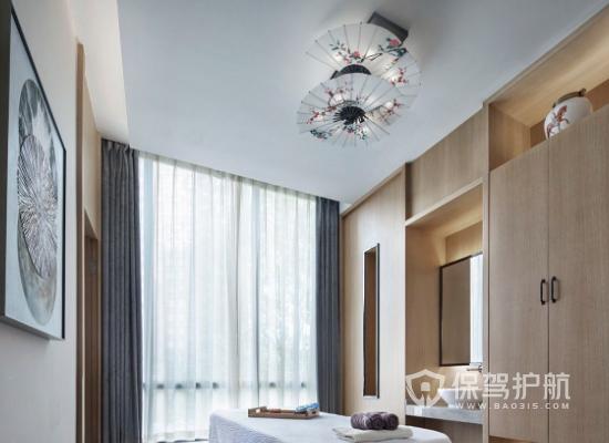 中式风格美容院吊顶装修效果图
