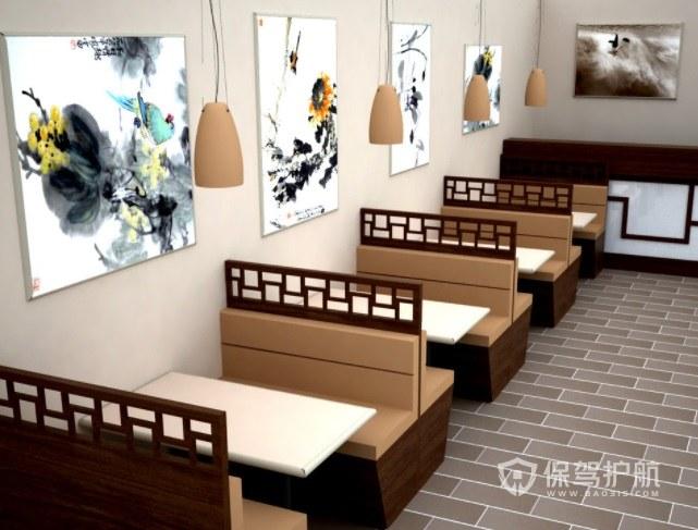 后现代中式餐厅装修效果图