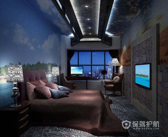地中海创意酒店房间装修效果图
