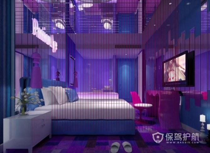 日式韩式混搭潮流酒店房间装修效果图