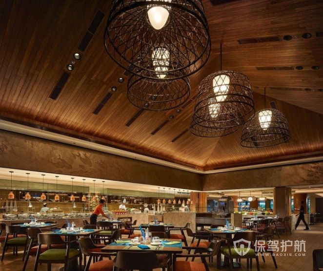 法式新古典餐厅装修效果图
