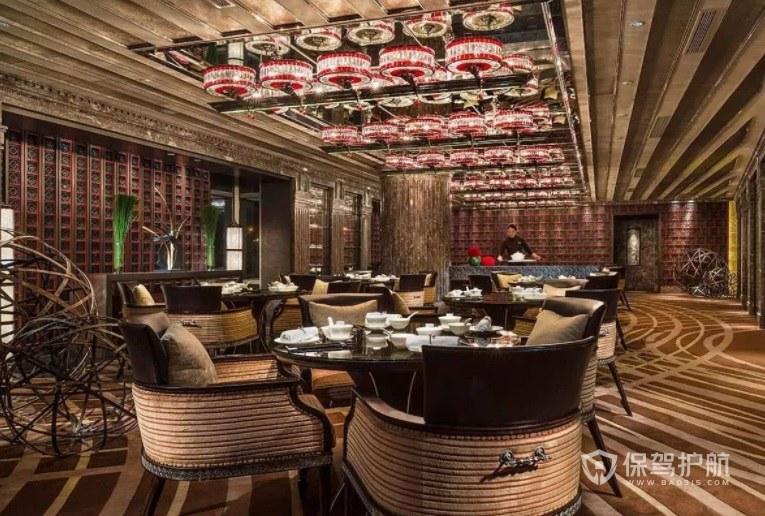 西班牙创意原木风餐厅装修效果图