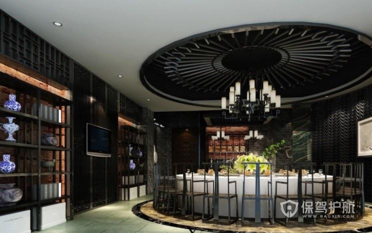 中式混搭法式创意餐厅装修效果图