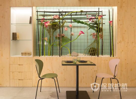 日式北欧风格饭店墙面设计效果图