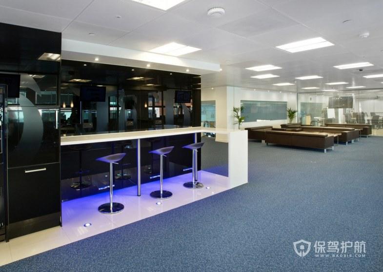 开放式办公室茶水接待区装修效果图
