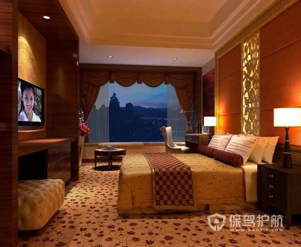 美式温馨酒店房间装修效果图