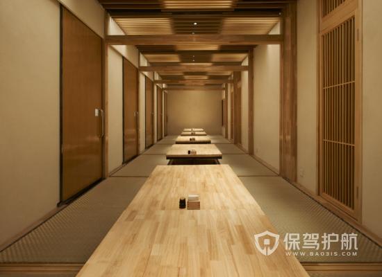 日式风格饭店包厢装修效果图