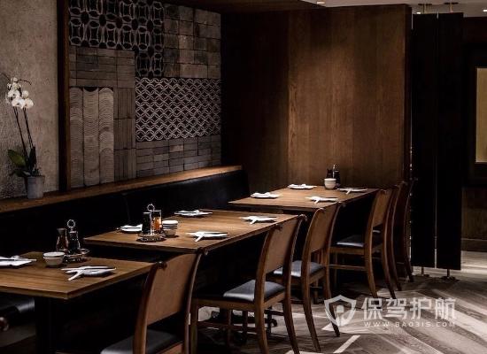 新中式风格饭店桌椅设计效果图